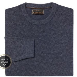 Reserve Collection Cotton & Silk Crew Neck Sweater
